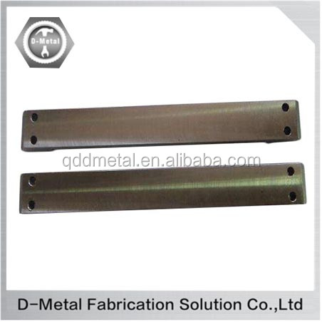 Custom precision cnc machined stainless steel plate with surface treatment