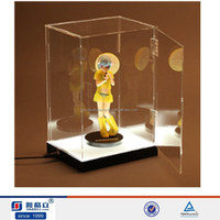 2015 Crystal latest design clear acrylic toy display case