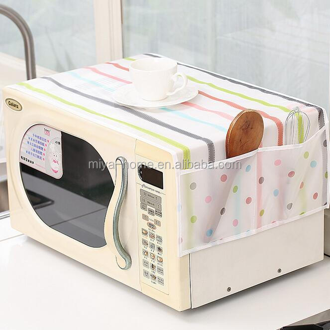 High quality WaterProof Microwave Oven Dust Cover linen / Microwave oven oilproof cover