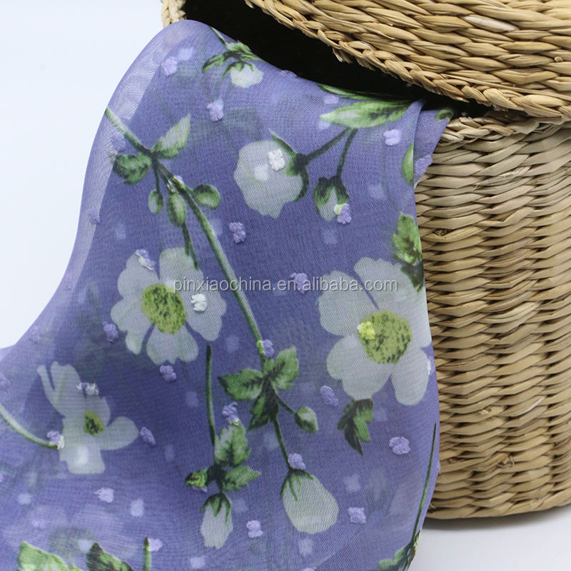 75D CHIFFON CUTTING FLOWER PAPER PRINTED FABRIC