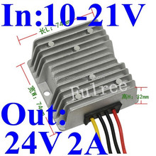 power regulator 12vdc to 24vdc dc to dc converter 12v 14v 15v 16v 19.5v 18v step up to 24v 2A for cars vehicle