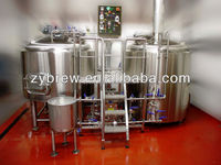 Brewery beer equipment Pub Mini brewery,large beer brewing equipment,commercial hotel copper beer brewery equipment
