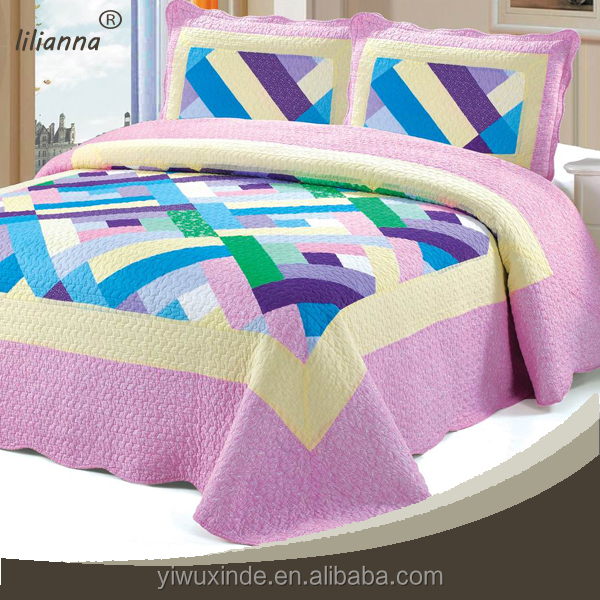 made in china patchwork king size cotton printed 3d bedding set