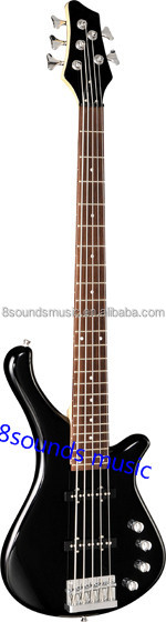 Solid Wood 5 String Bass Electric Bass Guitar music Instruments