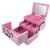 yeashii professional Portable luxury aluminum travel makeup train case with mirror