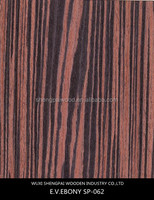 2016 hot sale artificial ebony timber wood recon face veneer for doors,floors furniture skin/bamboo veneer for skateboards