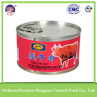 Hot china products wholesale canned beef/nutrition beef products