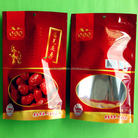 laminated plastic bag zipper bag for food jujube zip lock bag with window