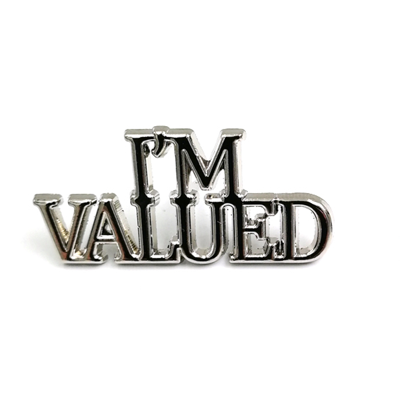Free Sample Wholesale Design Custom Letter Logo Badge Enamel Lapel Pin <strong>Metal</strong>