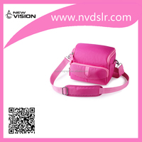 High Quality Pink Stylish Digital Camera Shoulder Bag with Padded