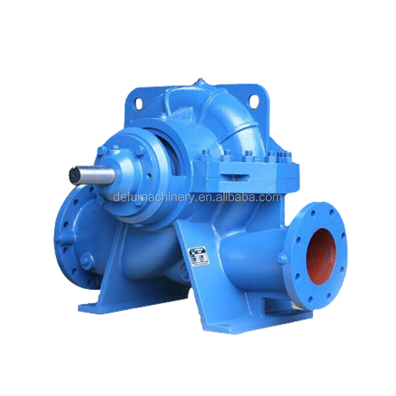 single stage centrifugal horizontal double suction split case electric motor water pump