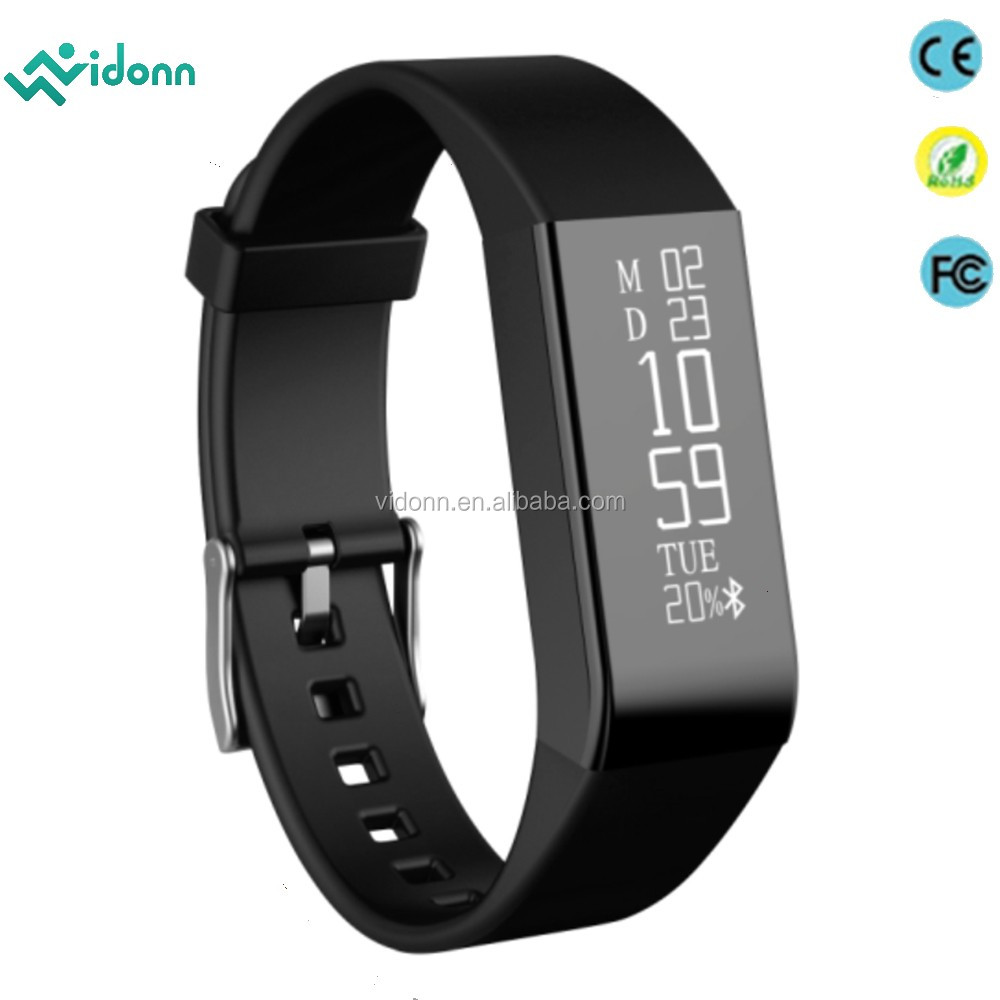 Vidonn A6 Real-time Heart rate monitor caller ID&SMS notifications pedometer 2016 smart watch