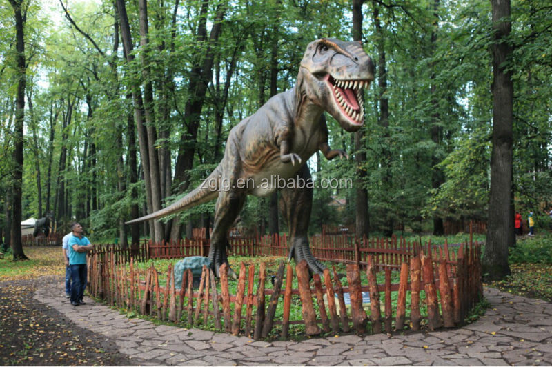 Popular entertainmental Animatronic Dinosaurs made of foam/metal frame/silicone rubber