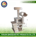 BSCI QQ Catree factory 54 Inch Cat Tree & Scratching Post Beige
