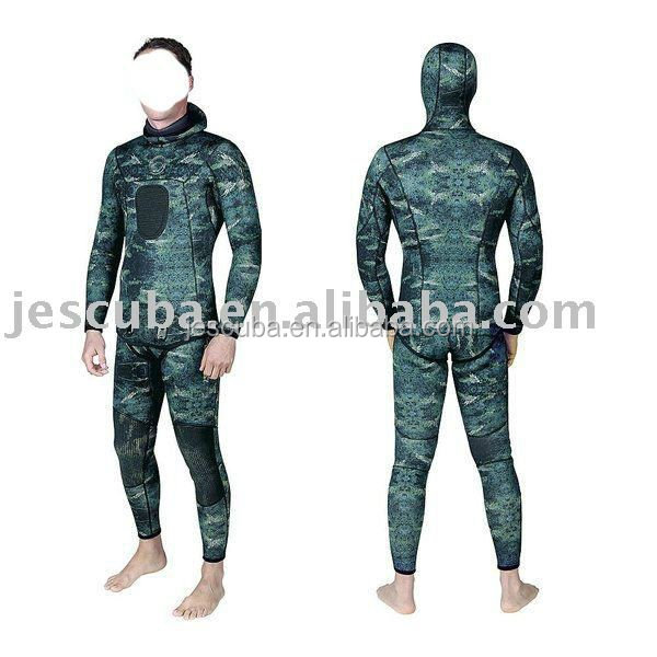Camo. 2PCS COOL wetsuits, john jacket wetsuits, spear fishing wetsuits