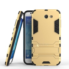 chinese brand mobile phone protective case tpu pc kickstand back cover for Samsung J727, hybrid case for Samsung J727