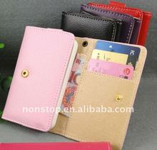 Wallet Leather Card Holder Flip Case Cover Pouch for Apple iPhone 4S 4 4G