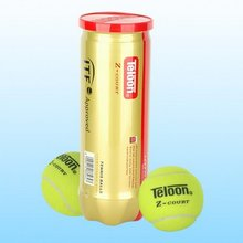 ITF Aproved Teloon Branded Z Court High Quality Professional Pressurized Tournament Match Tennis Ball