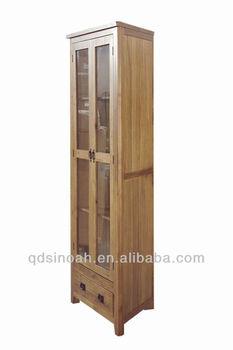 oak corner display display room furnitue