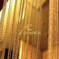 Decorative metall bead string curtain