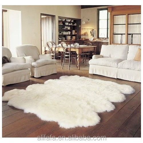 Factory directly superior quality shaggy prayer sheepskin rug with different size