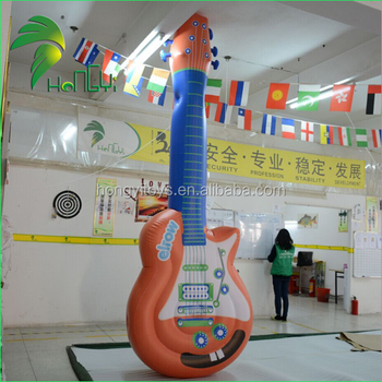 Stadium Promotion Decorate Giant Inflatable Replica Guitar Model Balloon For Sale