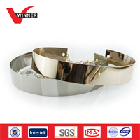Gold Silver Finish Custom Metal Belt