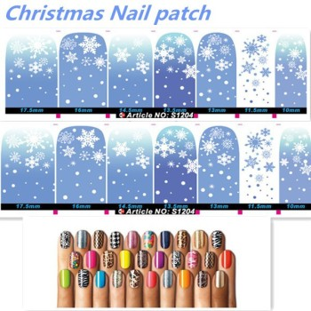 Factory price Christmas decals nail foil nail charms Nail art sticker nail supplies factory