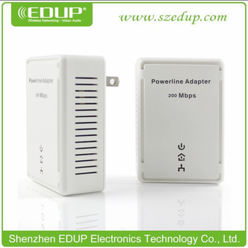 200Mbps Home Plug AV Mini Ethernet Bridge Powerline adapter EDUP EP-5515