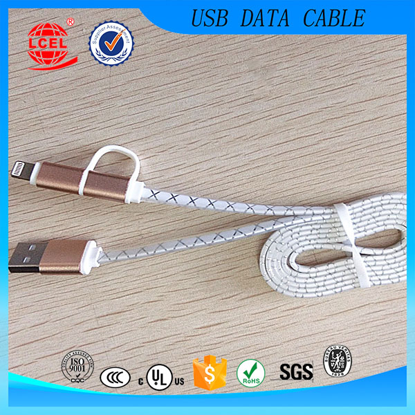 Universal multi USB charging cable , 2 in 1 USB charging cable