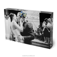 Wholesale promotional gift acrylic photo blocks, transparent acrylic photo blocks