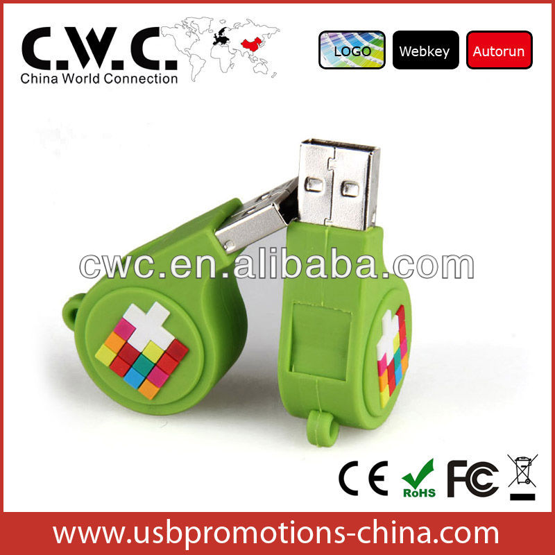 OEM whistle promotional usb flash memory pendrive