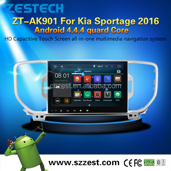touch screen android in dash car dvd player for Kia Sportage 2016 android car dvd player with 1.6GHz CPU Radio GPS BT