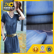 polished cotton denim fabric for dresses