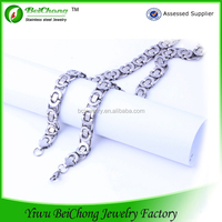 2015 new design silver 316 stainless steel necklace shoulder chain jewelry