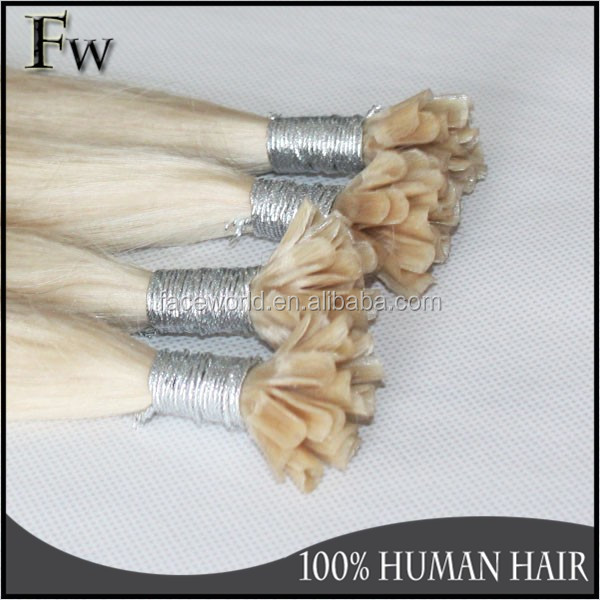 Straight double drawn 100 cheap remy u tip hair extension wholesale