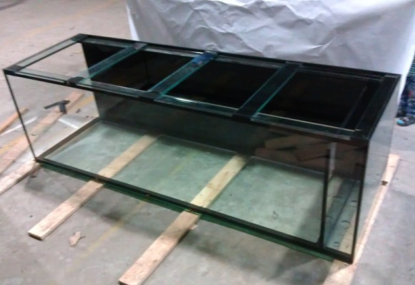 Large 6mm thick used fish tanks for sale with brace