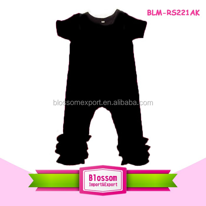 Wholesale Plaids Baby Girl Romper Newborn Baby Clother Jumpsuit Firm Ruffle Icing Romper with Lap Shoulder