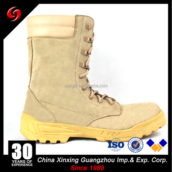 Custom make beige military desert boots with zipper sale