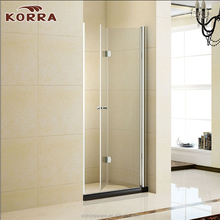 2017 new design cheap shower cabin clear tempered glass shower screen shower enclosure with 1 bi-fold door