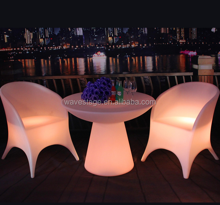 remote control rechargeable battery night club illuminated wedding bar stools