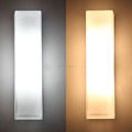 opal frost glass rectangle glass wall lamp