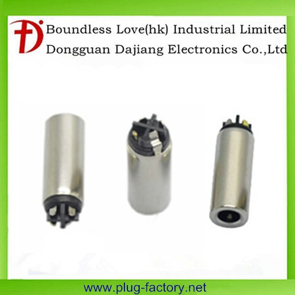 6.4mm tray 4 pole nickel plated 3.5mm female socket