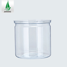 Clear Plastic Round Wide-Mouth Jars Candy Bottle Easy Open End Food Cans
