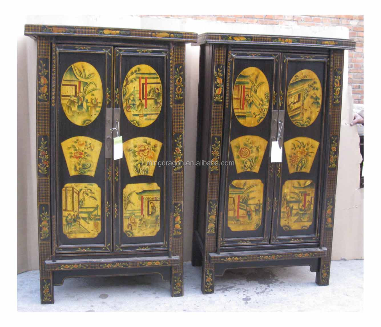 Reproduction&Antique Style Shanxi Painted Cabinet