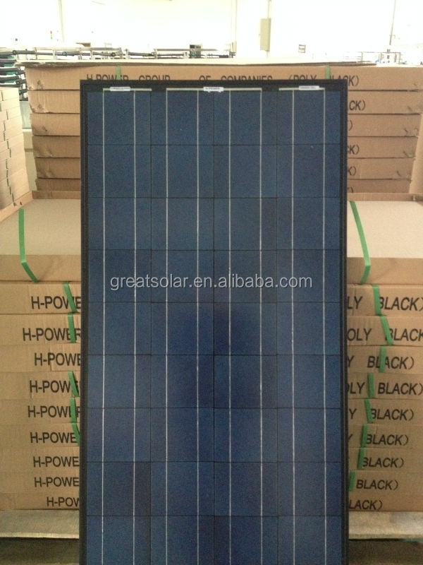 Black modules!low price 150 watts poly crystalline solar panel mainly send to Afghanistan,Pakistan,Nigeria,Dubai etc...