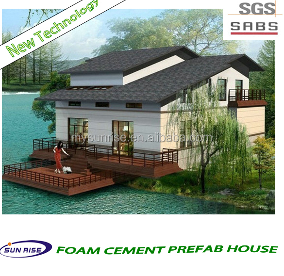 Luxury cheap and quick assembled 50m2 prefab house plan