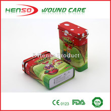 HENSO Waterproof Sterile Tin Box Custom Printed Band Aid