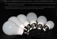 7W LED E27 Light Bulbs 3000K Warm White Energy Saving Lamps 110V New
