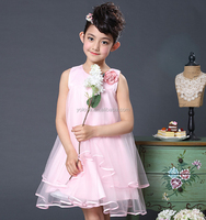 Children's clothing and kids beautiful model costumes one piece girls party dresses princess flower girl dress